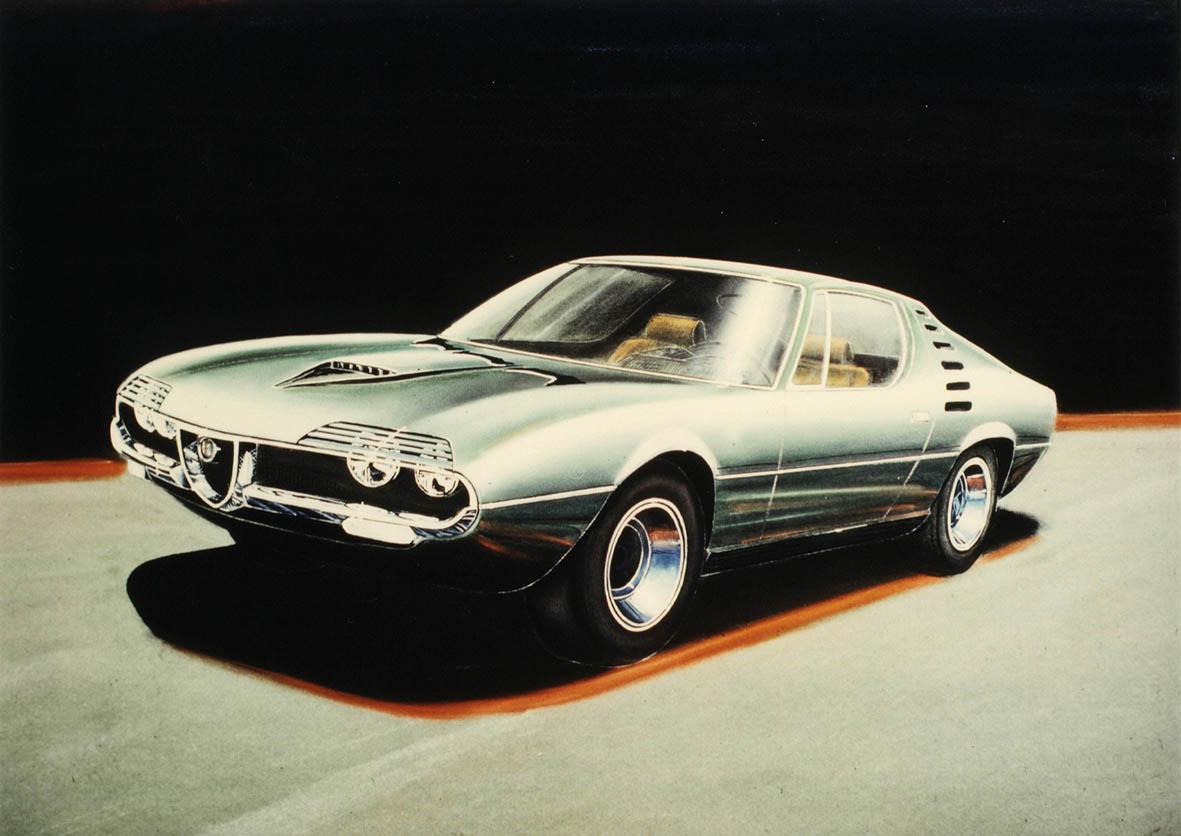 The Alfa Romeo Montreal Website Transmission Diagrams Designer Sketch Gandinis Concept Of Production