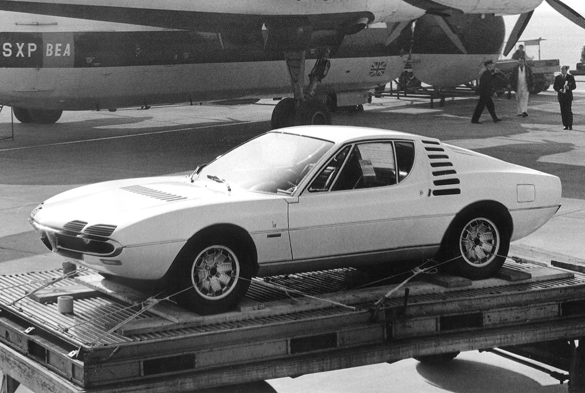 The Alfa Romeo Montreal Website 4c Engine Diagram Off To Canada Ready For Air Shipment Expo67